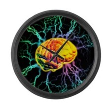 Brain activity Large Wall Clock
