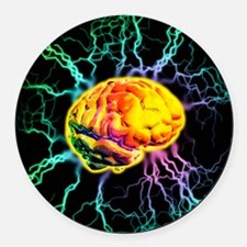 Brain activity Round Car Magnet