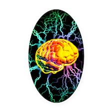 Brain activity Oval Car Magnet