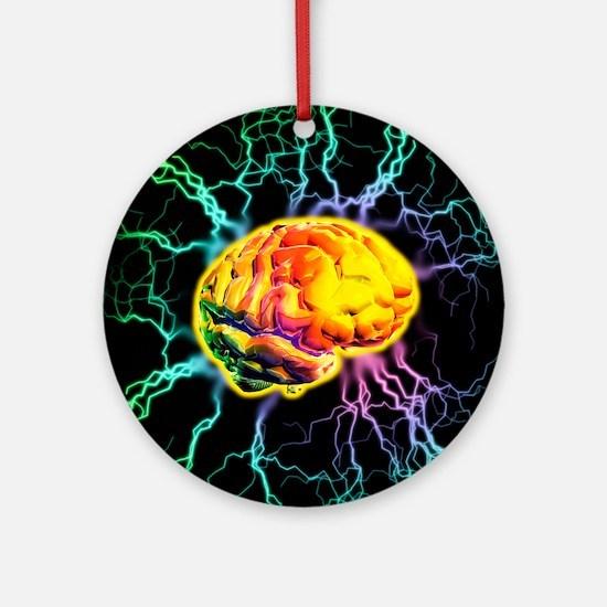 Brain activity Round Ornament