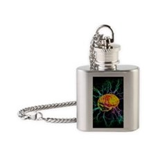 Brain activity Flask Necklace