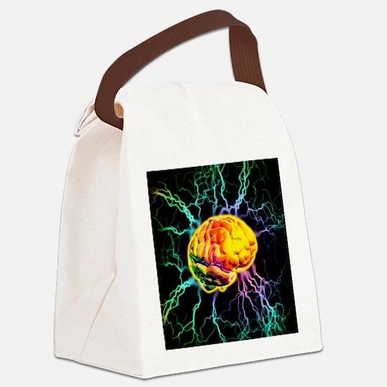 Brain activity Canvas Lunch Bag
