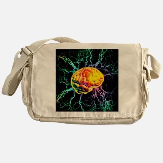 Brain activity Messenger Bag