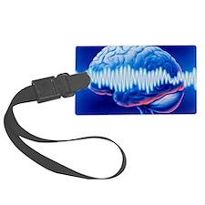 Brainwaves Luggage Tag