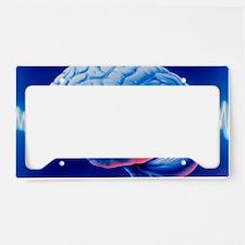 Brainwaves License Plate Holder