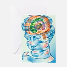 Brain limbic system Greeting Card