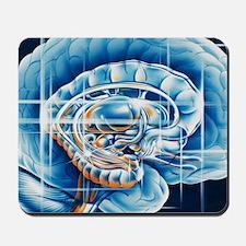 Brain limbic system Mousepad