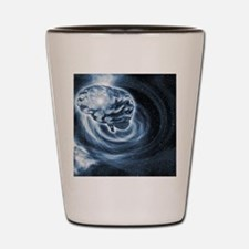 Brain in space Shot Glass