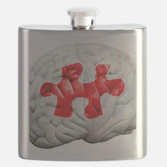 Brain function, conceptual Flask