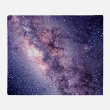 Central Milky Way Throw Blanket