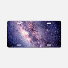 Central Milky Way Aluminum License Plate