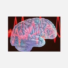 Brainwaves Rectangle Magnet