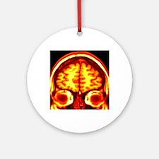 Brain, MRI scan Round Ornament