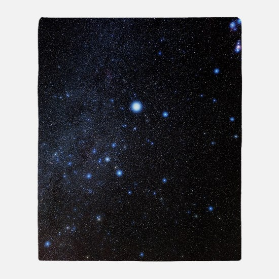 Canis Major constellation Throw Blanket