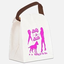 Bully for Boobs, Pitbulls  Breast Canvas Lunch Bag