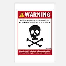 Warning: Entropy Postcards (Package of 8)