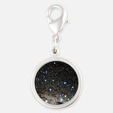 Centaurus and Crux constellati Silver Round Charm