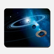 Christmas star as planetary conjunction Mousepad