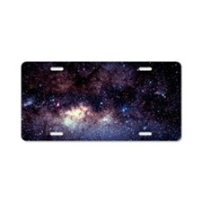 Central Milky Way in conste Aluminum License Plate