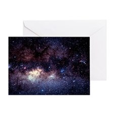 Central Milky Way in constellation S Greeting Card