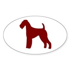 Just Airedale Oval Decal