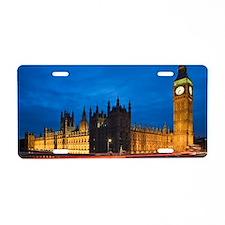 Big Ben at night, London, E Aluminum License Plate