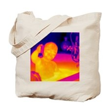 Child in bath Tote Bag