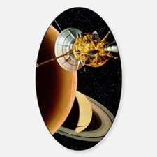 Cassini spacecraft near Titan Decal