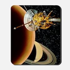Cassini spacecraft near Titan Mousepad