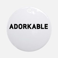 Adorkable Round Ornament
