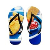 Chicken nugget Flip Flops