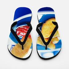 Chicken nuggets Flip Flops