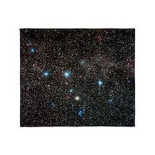 Cassiopeia constellation Throw Blanket
