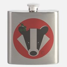 Christmas Badger Face Flask