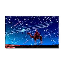 Christmas star as planetary con Car Magnet 20 x 12
