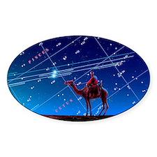 Christmas star as planetary conjunc Decal