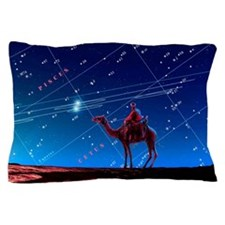 Christmas star as planetary conjunctio Pillow Case