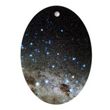 Centaurus and Crux constellations Oval Ornament