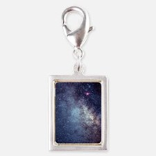 Central Milky Way in constel Silver Portrait Charm