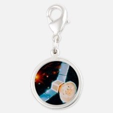 COBE: Cosmic Background Explor Silver Round Charm
