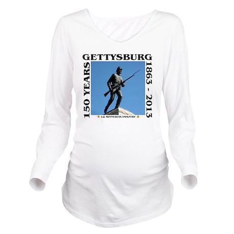 Gettysburg - 1st Min Long Sleeve Maternity T-Shirt