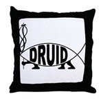 Druid Fish Throw Pillow