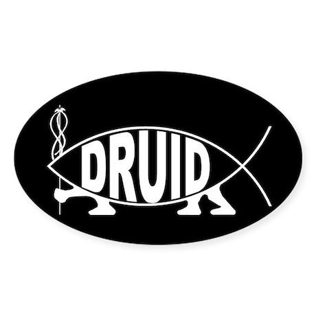 Druid Fish Oval Sticker