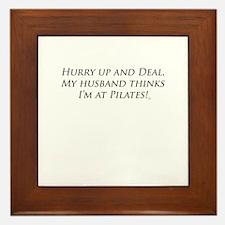 Hurry up husband Framed Tile