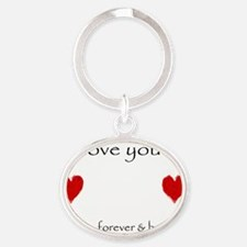 Always, Forever, Beyond Oval Keychain