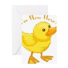 I'm New Here Duck Greeting Card