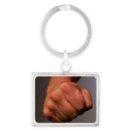 Clenched fist Landscape Keychain