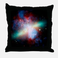Cigar galaxy (M82), composite image Throw Pillow