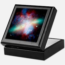 Cigar galaxy (M82), composite image Keepsake Box