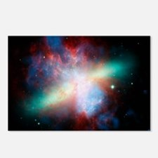 Cigar galaxy (M82), compo Postcards (Package of 8)